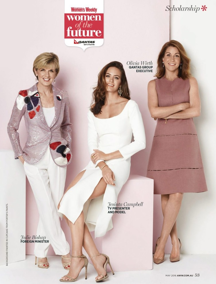 Australian Womens Weekly magazine page layout